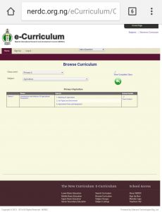 What's in a curriculum?