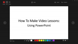 How to make video lessons using PowerPoint